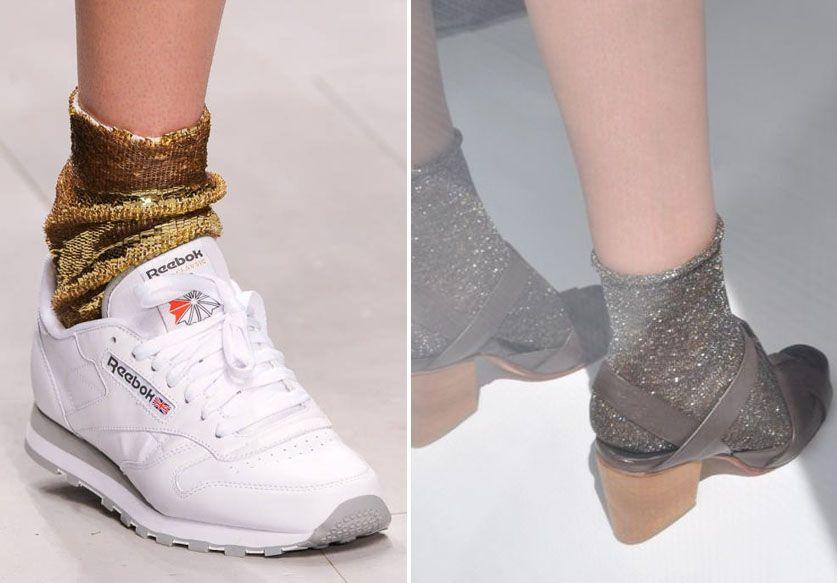 Les chaussettes à paillettes pour des pieds en fête