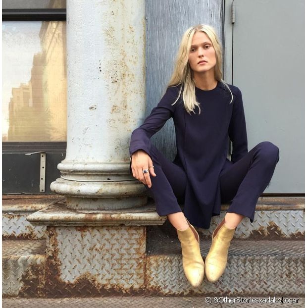 Style minimaliste + bottines funky = le bon dosage !
