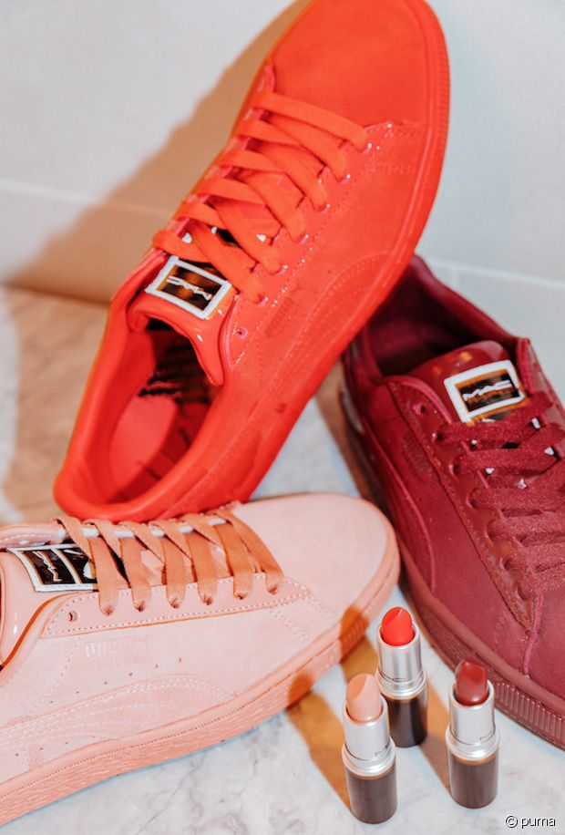 A La Collaboration Rouges Levres Mac Cosmetics De Et Puma Baskets DH2IWE9