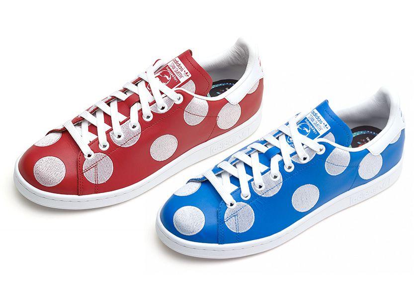 Les Stan Smith à pois par Pharell pour  Adidas