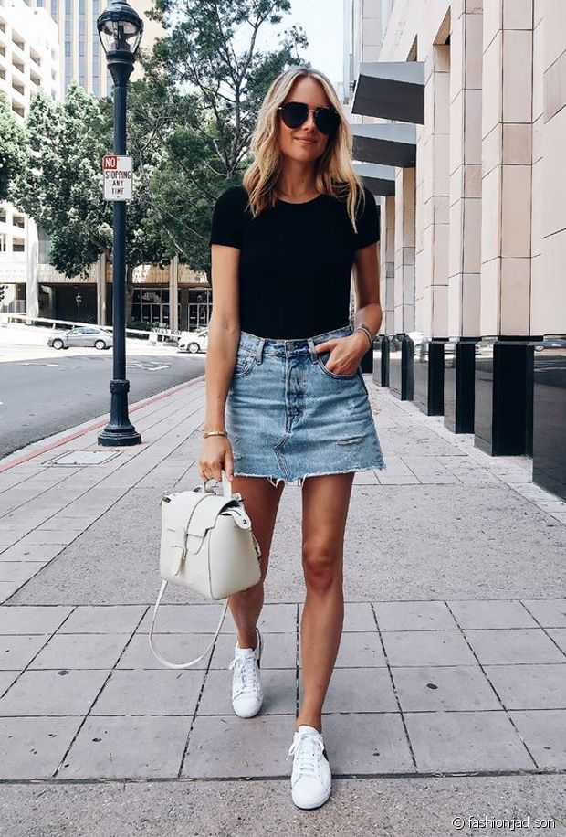 Quelles chaussures porter avec une jupe en jean ?