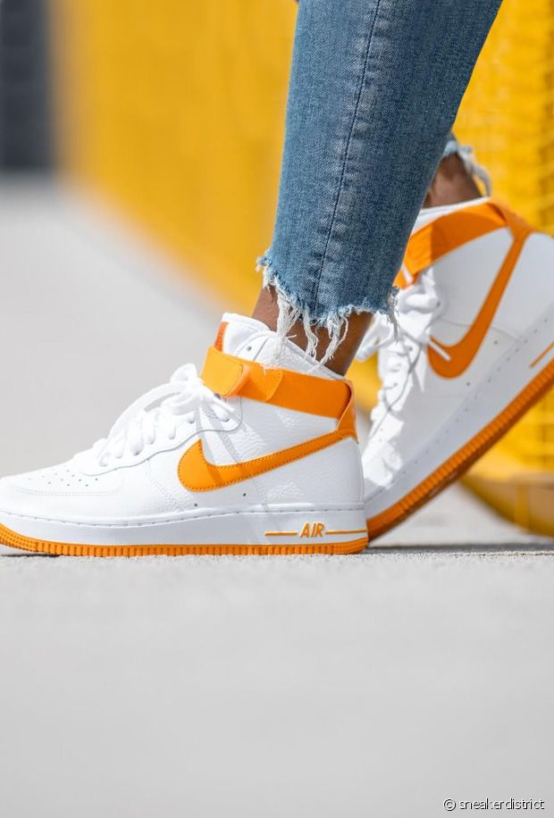 basket nike air force 1 blanche et orange