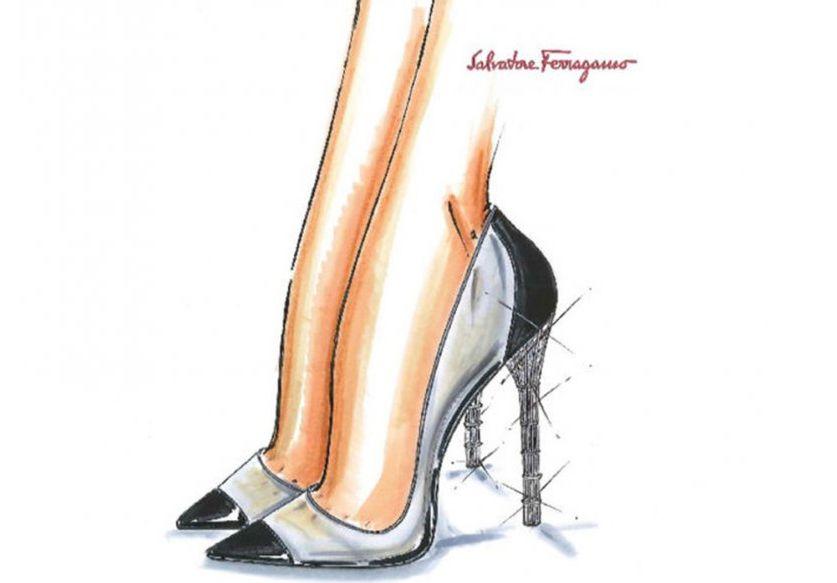 L'escarpin minimaliste de  Salvatore Ferragamo
