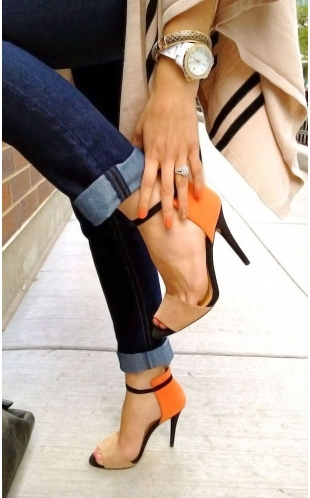 Vernis accordé chaussures