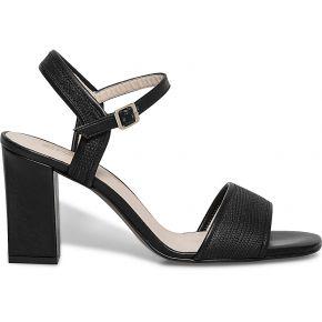 Sandale talon cuir imprimé noir noir eram