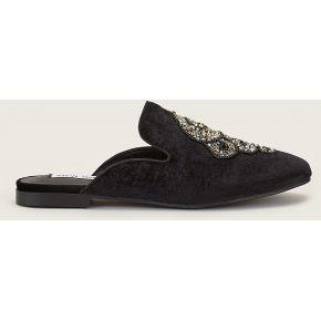 Mules brodées en velours hugh loafer noir -...