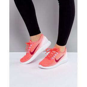 Femme nike running - lunarglide 9 - baskets - rose