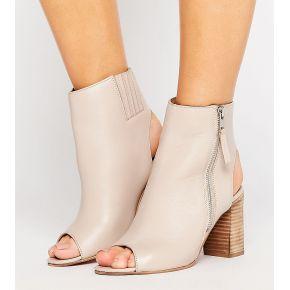 Femme asos - earnest - bottines hautes en cuir...