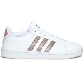 Tennis adidas blanche et rose métallisé blanc...