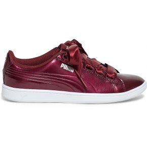 Tennis puma bordeaux verni rouge puma