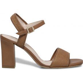 Sandale talon cuir imprimé camel camel eram
