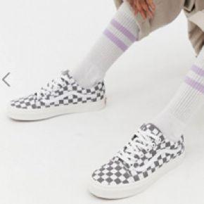 Femme vans - old skool - baskets à damier -...