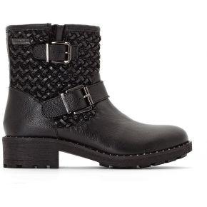 Boots cuir loraline feminin noir les...