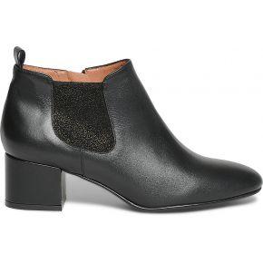 Boots cuir noir à paillettes or noir eram
