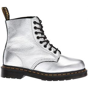 Dr martens pascal silver 8 eye leather womens...