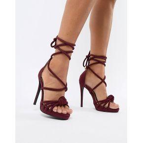 Femme missguided - sandales à talons avec nœud...