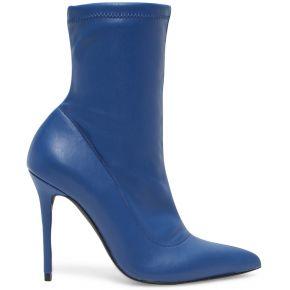 Bottine chaussette bleue à talon aiguille bleu...