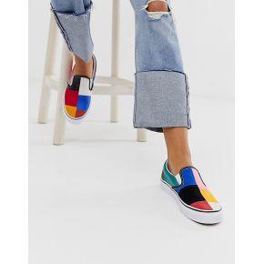 Femme vans - slip-on - baskets motif patchwork...