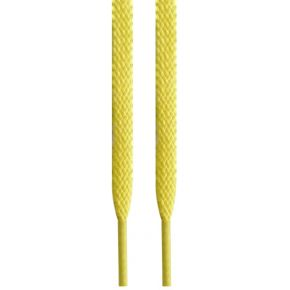 Lacets plats jaunes 137 cm