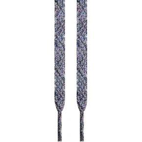 Lacets plats gris chiné 145 cm