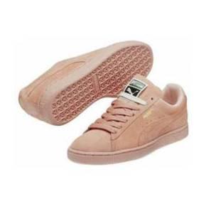 Chaussures puma suede mono rose pastel basket
