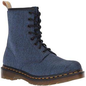 Dr martens vegan castel femme boots bleu