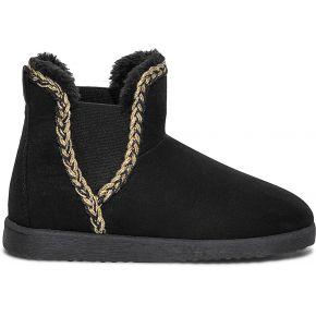 Boots noir fourré avec tresse dorée noir eram