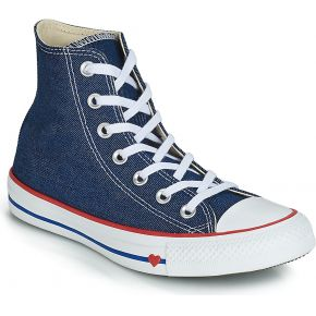 Baskets montantes chuck taylor bleu converse