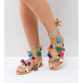 Femme asos - facemask - sandales compensées...