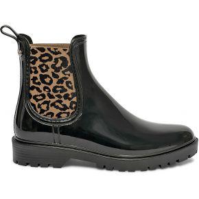 Chelsea boots de pluie igor noire et beige noir...