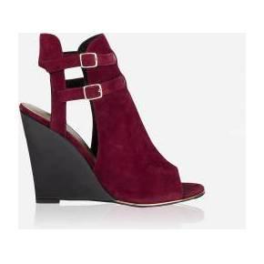 Sandales compensées à boucles cuir femme morgan