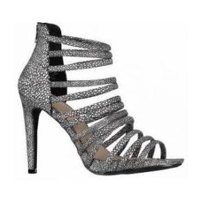 Sandales sam pieces noir argent