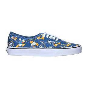 Slippers bleues imprimées donald duck vans bleu...