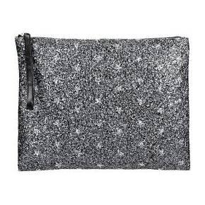 Pochette noire étoiles paillettes borsetta...