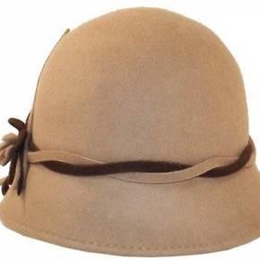 Chapeau femme cloche marron clair sophia