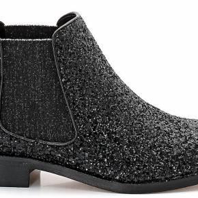 Boots velila/glit. cosmoparis noir pailleté