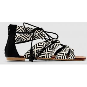 Sandales plates style spartiate imprimé léopard...