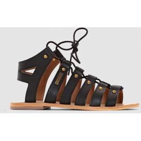 Les sandales spartiates marilyn, talon plat,...