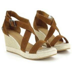 Sandales compensées à brides femme pldm by...