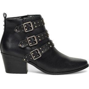 Boots boucles clous noir