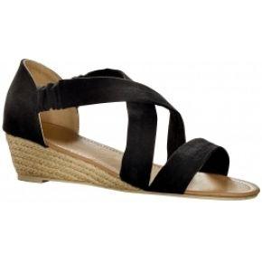 Blancheporte-femme noir sandales compensées...