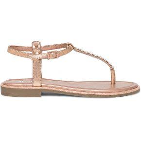 Sandale tong cuivrée à strass beige eram
