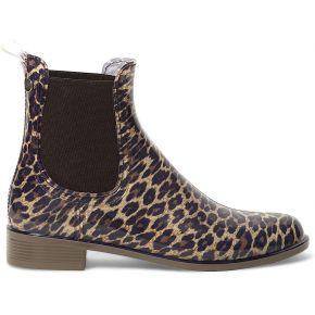 Chelsea boots igor plastique léopard beige igor