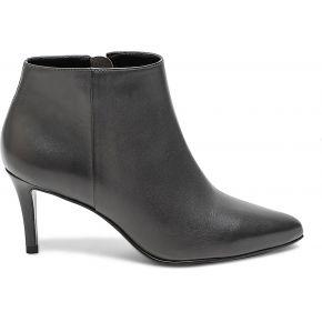 Boots gris en cuir à bout pointu gris eram