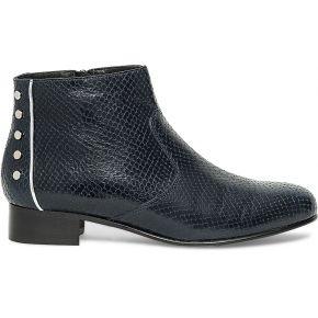 Boots clous cuir bleu marine eram