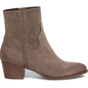 Boots beige cuir velours esprit western beige eram