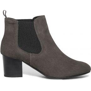 Chelsea boots gris en cuir velours gris eram
