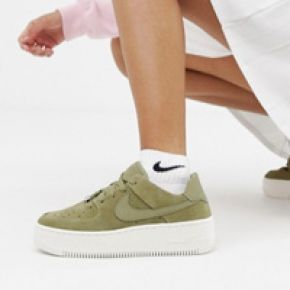 Femme nike - air force 1 sage - baskets - kaki...