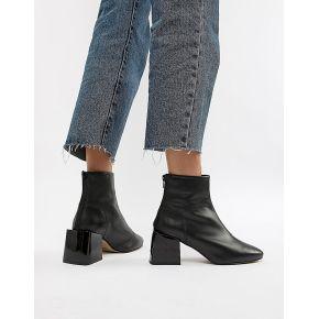 Femme asos design - rome - bottines en cuir - noir