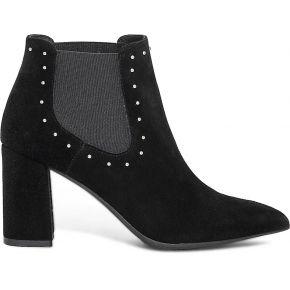 Boots noir en cuir velours à studs noir eram